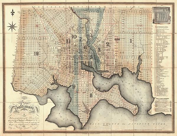 Plan of Baltimore, 1910