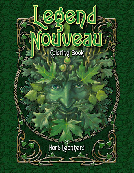 Legend Nouveau coloring book