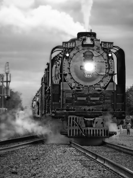 Steam Locomotive At Station UP 844|Wall Decor fleblanc
