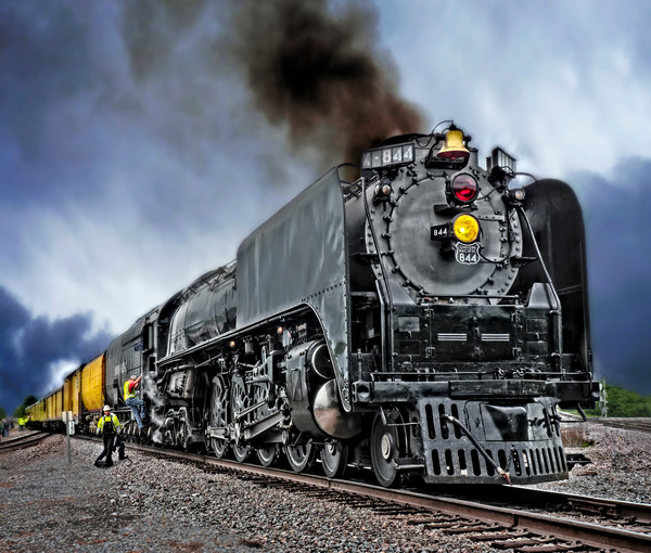 Union Pacific 844 Steam Locomotive|Wall Decor fleblanc