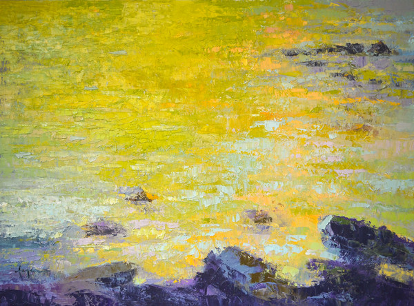 Pond I ~ Water Reflections Original Oil Painting by Dorothy Fagan