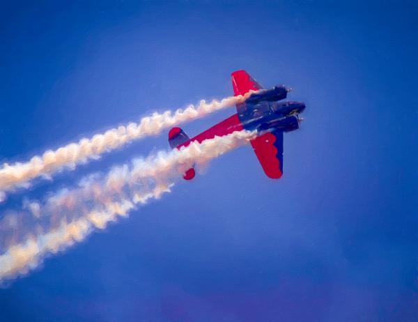 Airshow Aerobatics Smoke War Expeditor|Wall Decor fleblanc