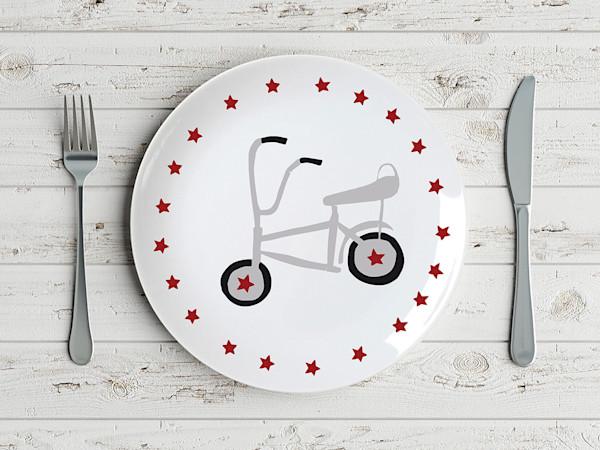 Punk Rock Vintage Schwinn Bicycle Plate