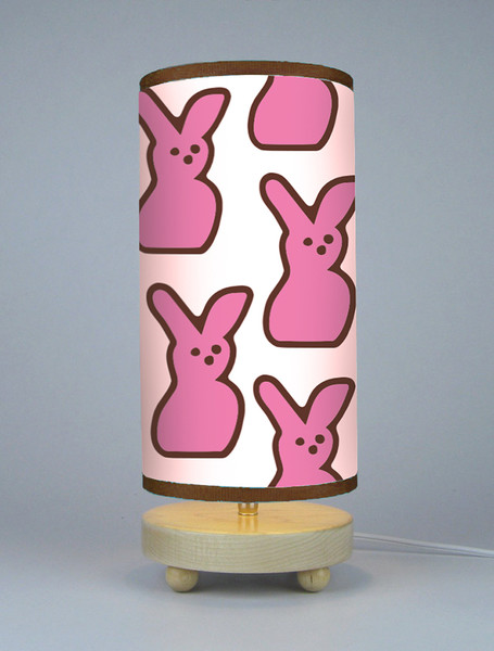 Pop Art Retro Pink Peep Easter Candy Bunny Lamp