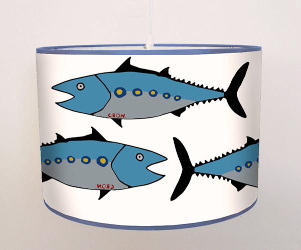 Pop Art Blue Fish Ocean Pendant Lamp