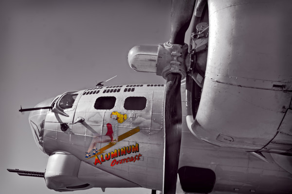 WW2 CAF B-17 Flying Fortress Nose Art|Wall Decor fleblanc
