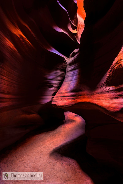Abstract fine art nature prints/Upper Antelope Canyon-Navajo Nation Arizona by Thom Schoeller