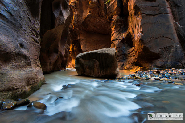 Utah's Virgin River narrows fine art by Thomas Schoeller/Zion National Park fine art photography prints