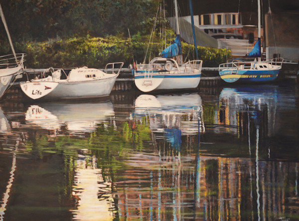 Oakville Sailboats by Cathy Groulx | SavvyArt Market original oil painting