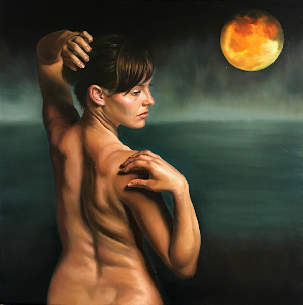 Mysterious and beautiful paintings of women and figures, nudes with emotional and symbolic themes.