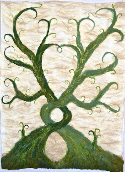 Commissioned fine art felted wall hanging
