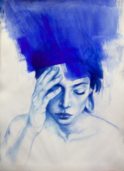 Drawings and Contemporary portraits in charcoal, crayons, and  mixed media.
