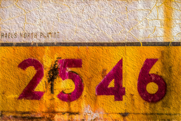 Union Pacific Caboose Abstract Texture|Wall Decor fleblanc
