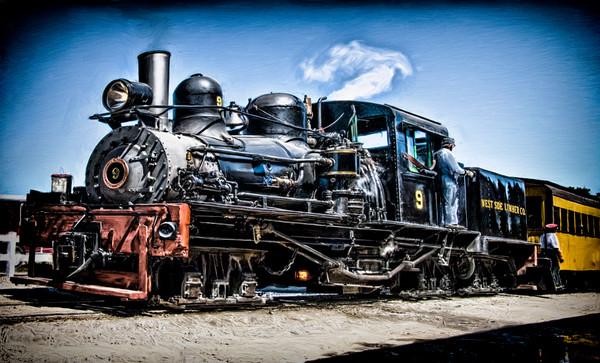 Train Steam Locomotive Nostalgic Decor|Wall Decor fleblanc