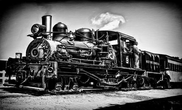 Train Old Steam Locomotive Nostalgia|Wall Decor fleblanc
