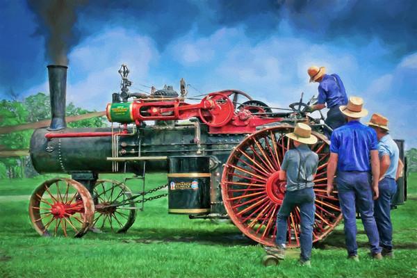 Advance Rumely Steam Powered Tractor|Wall Decor fleblanc