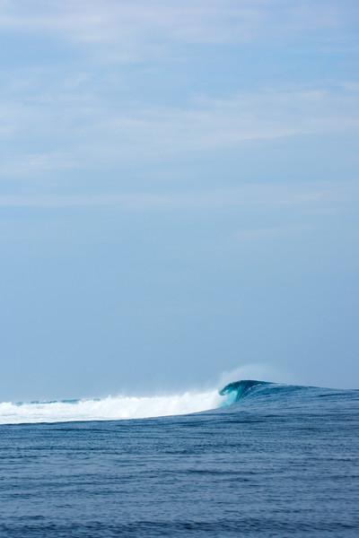 Cloudbreak from Afar, Fiji Surf Print by Brad Scott