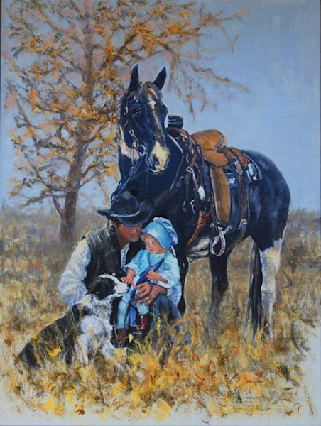 Cowboy Family Painting by Linda Gulinson | Gentle Touch
