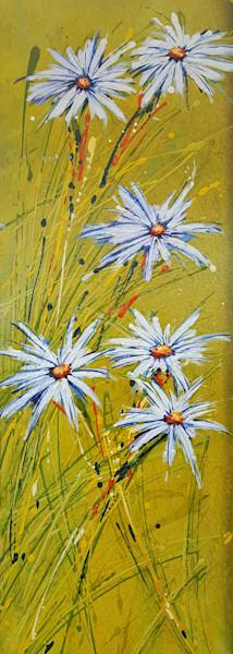 daisy-love, flowers, daisy, chartreuse, yellow, green, abstract