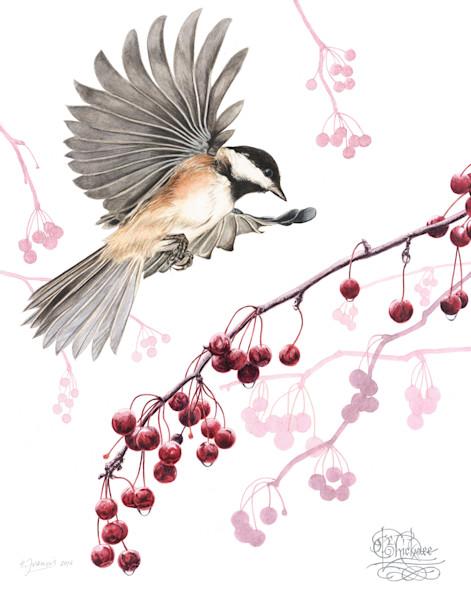 Chickadee by Ernie Francis | SavvyArt Market art print