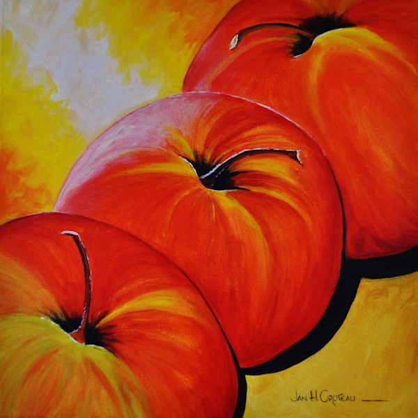 Three Good Apples, fine art print in four sizes.