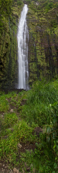 Waimoku Falls Panoramic print by Brad Scott