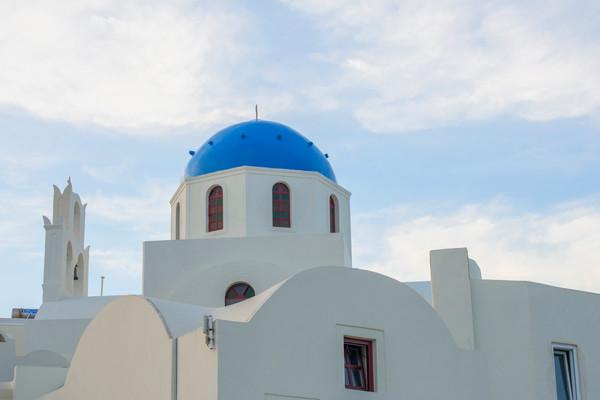 Oia Blue Roof, Santorini Greece Fine Art Photo print by Brad Scott