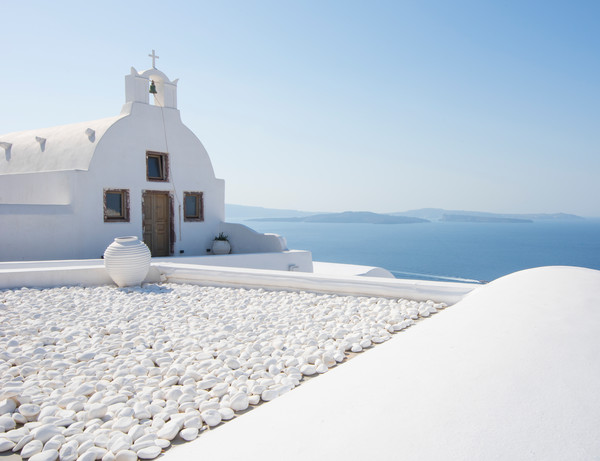 Everything Is White, Oia, Santorini Greece Fine Art Photo by Brad Scott