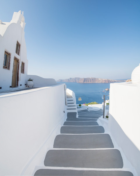 Oia Stairs, Santorini Greece Fine Art Photo Print by Brad Scott