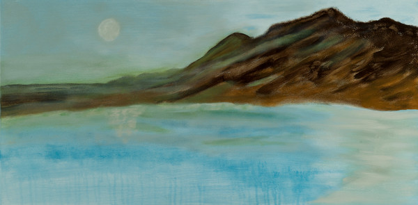 How High the Moon abstract, contemporary, waterscape painting.