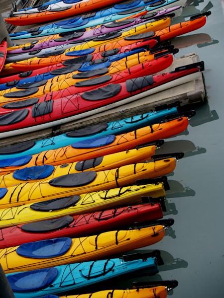 Kayaks in Line