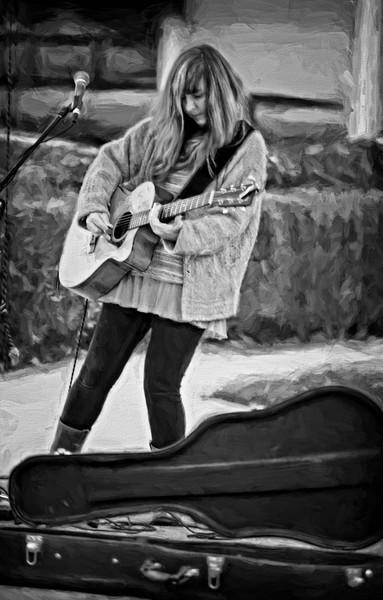 Street Performer Music Musician Guitar|Wall Decor fleblanc
