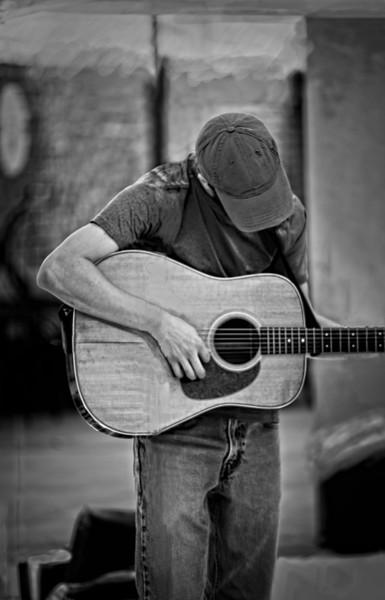 Street Performer Music Guitar Sing Hat|Wall Decor fleblanc