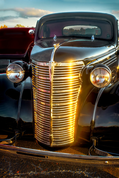 Street Rod Classic Golden Chevrolet Chevy|Wall Decor fleblanc