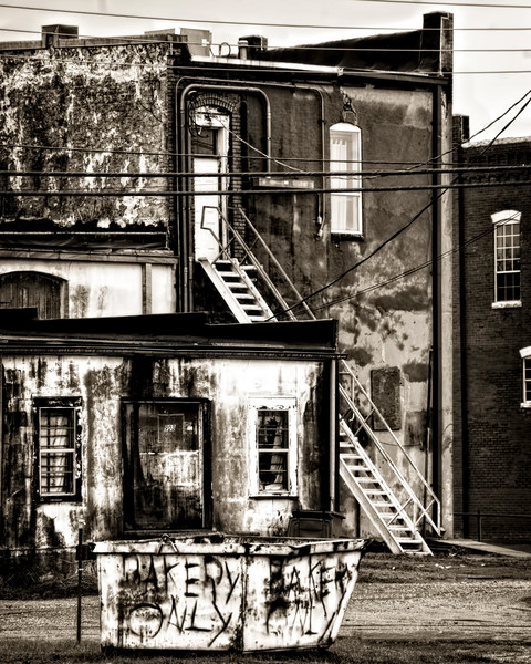 Street Gritty Abstract City-scape Decor|Wall Decor fleblanc