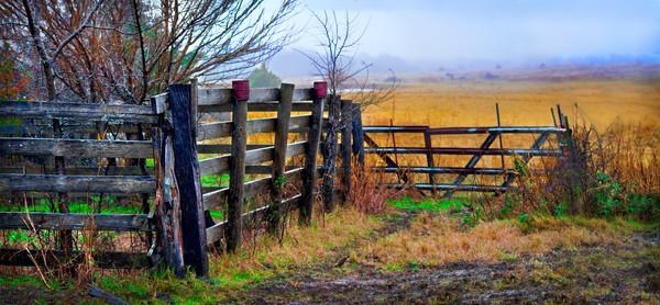 Farm Ranch Rural Rustic Fall Morning Wall Decor fleblanc