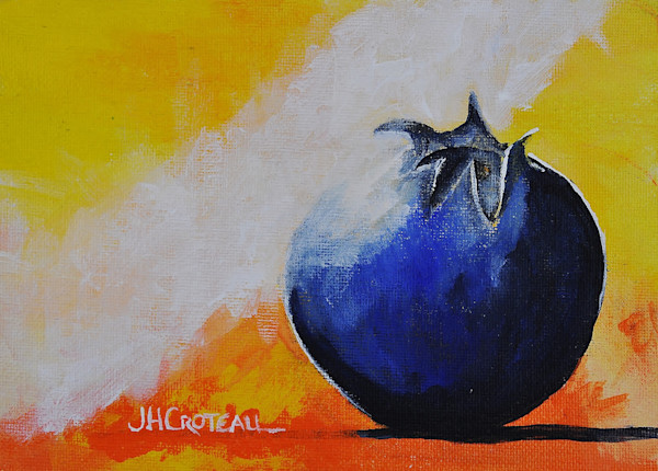 One Mighty Blueberry, fine art print, still life