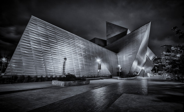 The Denver Art Museum B&W Photograph