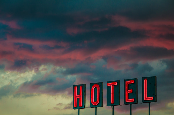 Buy Photograph of Denver Hotel Neon Sign
