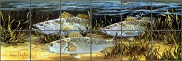 """Speckled Trout"" Tile Art"