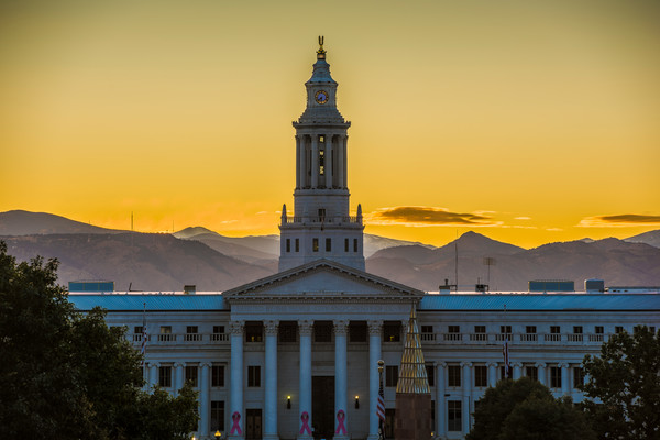 Sunset Photograph of Denver City and County Government Building