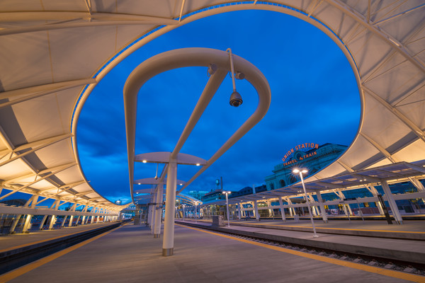 Photo of Denver Union Station Train Hall at Dusk