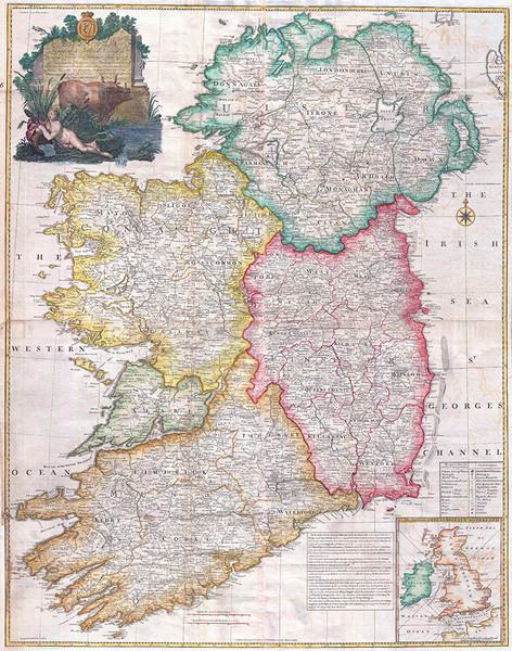 Map of the Kingdom of Ireland 1794
