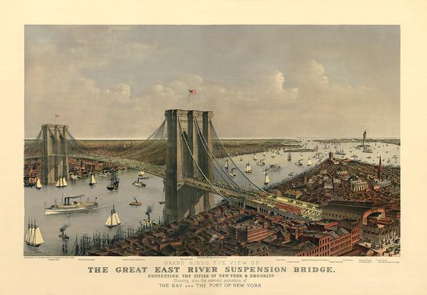 The Great East River Suspension Bridge