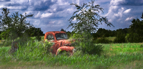 International Truck 1940 Blue Sky Pano|Wall Decor fleblanc