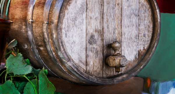 Wine Wooden Wood Old Barrel Whiskey|Wall Decor fleblanc