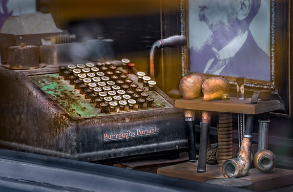 Burroughs Adding Machine Portable Decor|Wall Decor fleblanc