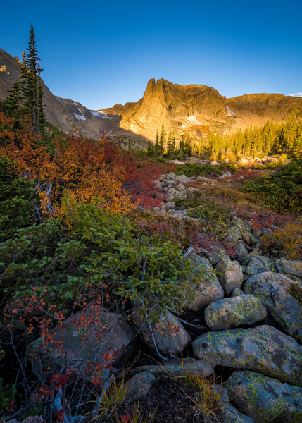 Autumn Colors Surround Notchtop Mountain Rocky Mountain National Park