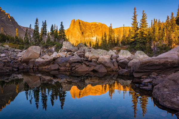 Photograph of Notchtop Mountain & Marigold Ponds Rocky Mountain National Park