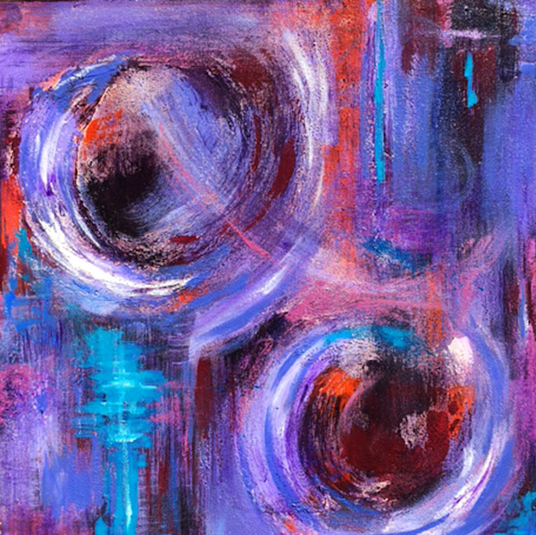 Welcome the Change 1- Abstract Painting by Christine Nye